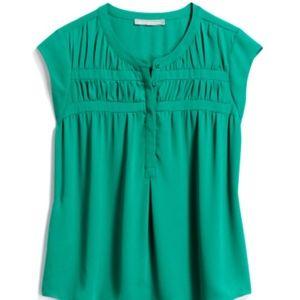 Green Daniel Rainn cap sleeve blouse